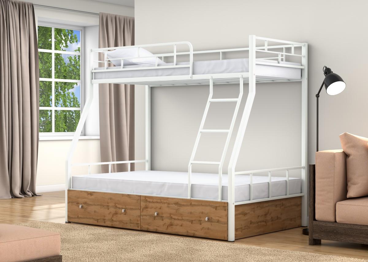 самая белая двухъярусная кровать фото черный жучок