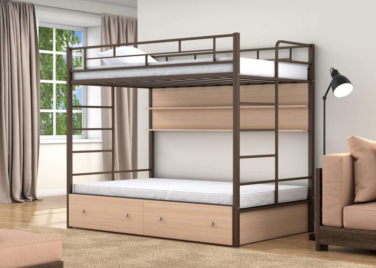 лес, модные двухъярусные кровати фото мать его дочери